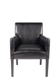Fotelis B27, dirbtinės odos, juodas