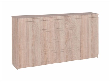 WIPMEB Armadio AXL 2D 4S Chest Of Drawers Sonoma Oak