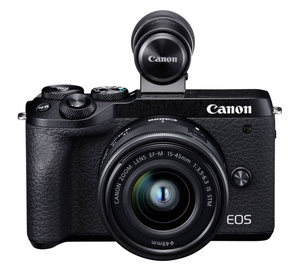 Canon EOS M6 Mark II + EF-M 15-45mm + EVF-DC2 Black