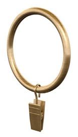Aizkaru stangas riņķis ar knaģi D25, zelta