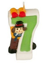Pap Star Clown Candle Number 7