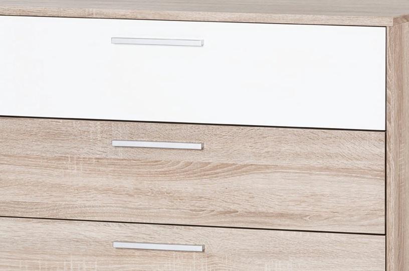 Kumode Szynaka Meble Milo 06 White/Sonoma Oak, 98x38x90 cm