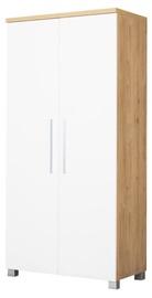 Bodzio Wardrobe Panama PA02 White/Dark Sonoma Oak