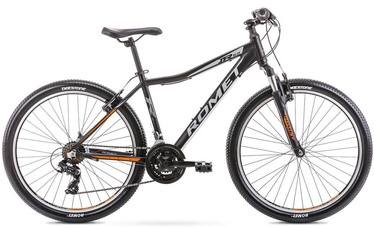 "Jalgratas Romet Rambler R6.0 JR, must/oranž, 19"", 26"""