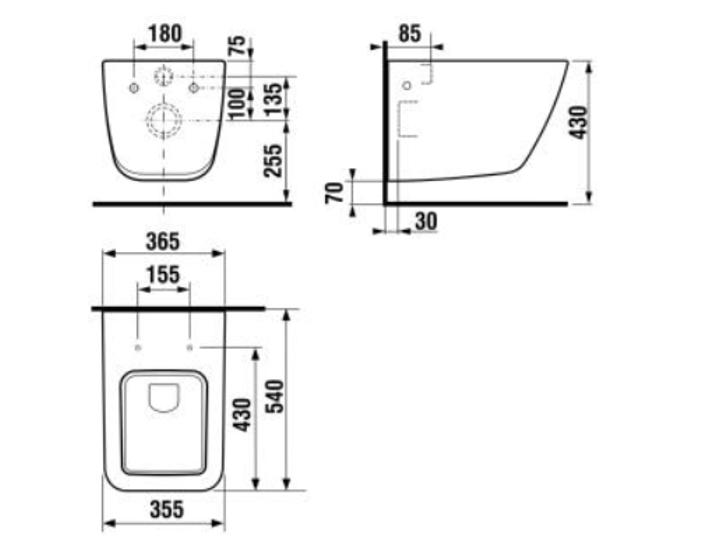 Sienas tualete Jika Cubito Pure H8204230000001, 355x540 mm