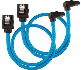 Corsair Premium Sleeved SATA Cable 30 Blue