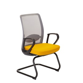 Home4you Anggun Visitor Chair Yellow/Grey