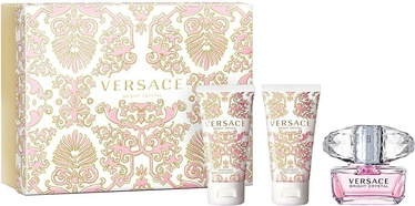 Versace Bright Crystal 50ml EDT + 50ml Body Lotion + 50ml Shower Gel