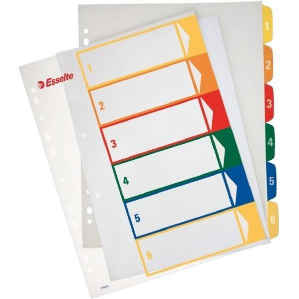 Esselte Document Divider Book 10 Colors Maxi+