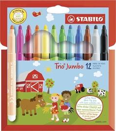 Stabilo Fibre-Tip Pens Trio Jumbo 12pcs