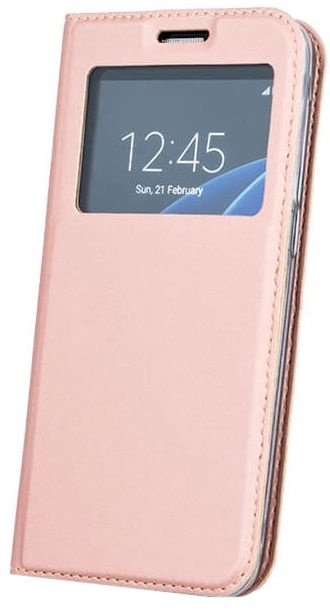 Mocco Smart Look Magnet Book Case For Samsung Galaxy J7 J710 Rose Gold