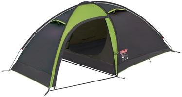 Trīsvietīga telts Coleman Maluti Blackout, melna/zaļa