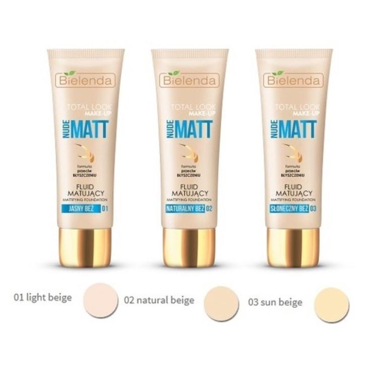 Bielenda Total Look Make-up Mattifying Fluid Foundation Nude Matt 30ml 01