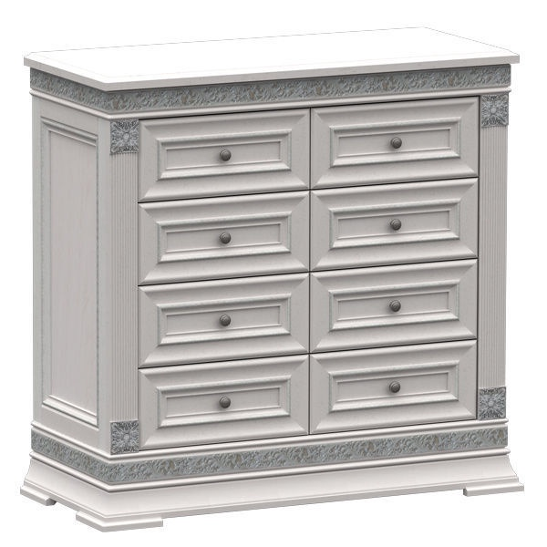 MN Chest Of Drawers K1 100 White