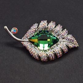 Diamond Sky Brooch Royal Vine II With Swarovski Crystals