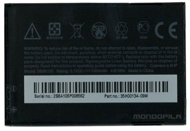 Батареи HTC BA S420 Original Battery 1300mAh