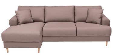 Black Red White Corner Sofa Mori Left Pink