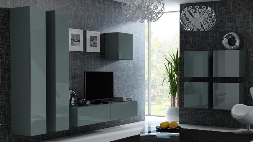 TV galds Cama Meble Vigo 180, pelēka, 1800x300x400 mm