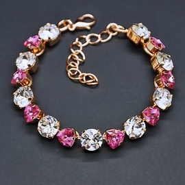 Diamond Sky Bracelet Romantic Tenderness II Rose With Crystals From Swarovski