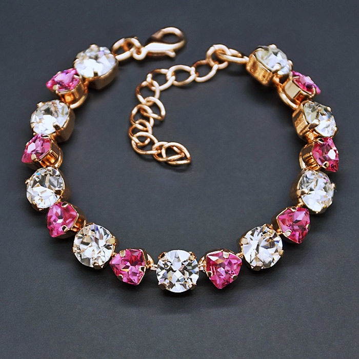 Diamond Sky Bracelet Romantic Tenderness II Rose With Crystals From Swarovski