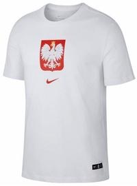 Särk Nike Poland Tee Evergreen Crest CU9191 100, valge, XL