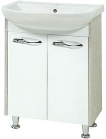 Sanservis Sirius-60 Cabinet with Basin Arteco-60 Orfeo 60x84.5x44cm