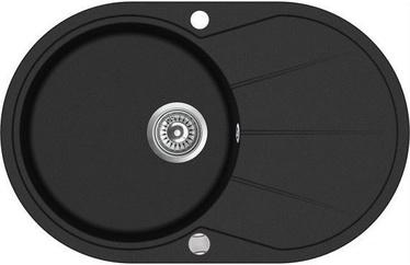Aquasanita SR101 Black 780x500mm