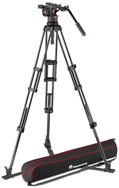 Manfrotto Nitrotech N12 Video Head With Twin Leg Tripod GS 100/75mm