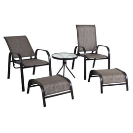Home4you Dakota Garden Furniture Set Black/Grey