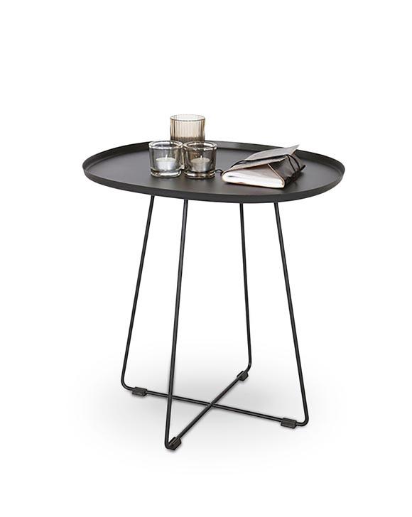 Kavos staliukas Halmar Tina Black, 500x420x510 mm