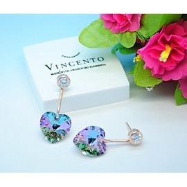 Vincento Earrings with Swarovski Elements Xilion Heart VE-2081