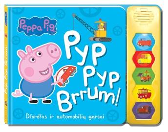 KNYGA Peppa Pig. Kiaulytė Pepa. Džordžas ir automobilių garsai
