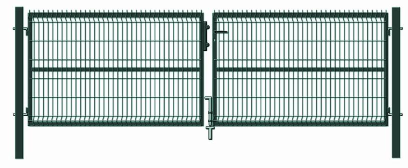 Ворота Garden Center RAL6005, 400 см x 123 см