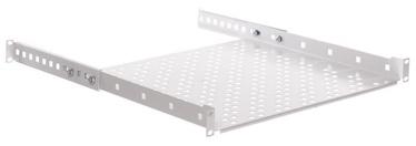 Riiul Netrack Equipment Shelf 19'' 1U / 400mm Grey