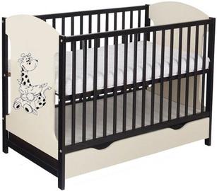Minikid Miki Baby Bed w/ Drawer 104 Venge/Cream Giraffe