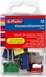 Herlitz Fold Back Clip 10pcs 08770257