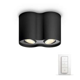 Išmanusis šviestuvas Philips Pillar Hue, juodas, 2x5.5W 230V