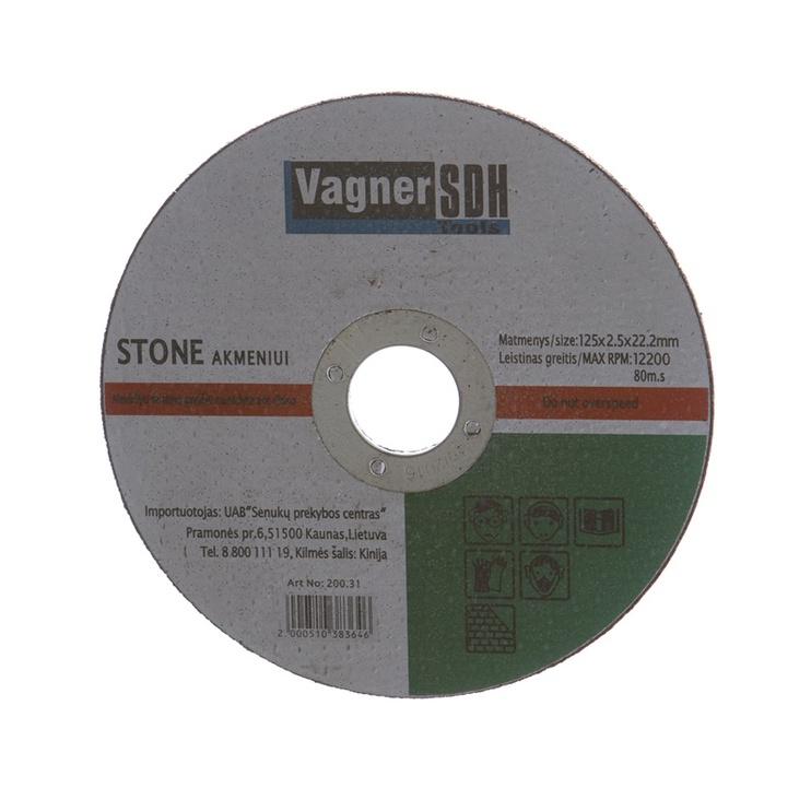 Lõikeketas Vagner 125x2.5x22.23mm, kivile