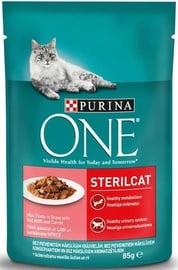 Purina ONE Sterilcat Salmon And Carrot 85g