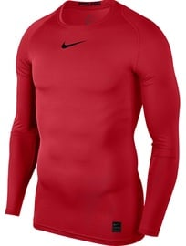 Nike Men's T-shirt Pro Top Compression LS 838077 657 Red 2XL