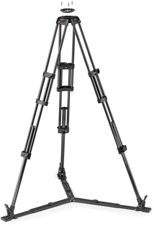 Manfrotto CF Twin Leg With Ground Spreader Video Tripod 100/75mm Bowl