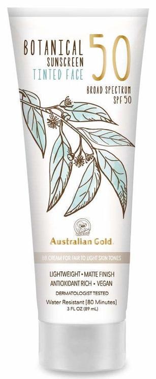 BB sejas krēms Australian Gold Botanical Tinted SPF50 Fair-Light, 89 ml