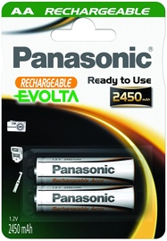 Panasonic Evolta P-6E rechargeable battery 2 x AA 2450mAh