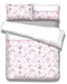 Gultas veļas komplekts AmeliaHome Snuggy, balta/rozā, 135x200/80x80 cm