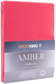 Palags DecoKing Amber, rozā, 140x200 cm, ar gumiju