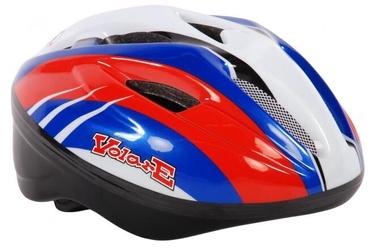 Шлем Volare Deluxe, синий/белый/черный/красный, 510 - 550 мм
