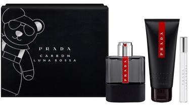Набор для женщин Prada Luna Rossa Carbon 100 ml EDT + 100 ml Shower Gel + 10 ml EDT