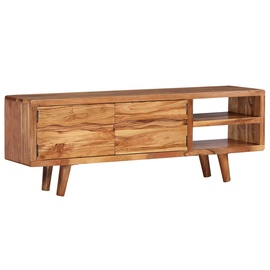 TV-laud VLX Solid Acacia Wood 244973, pruun, 1170 mm x 300 mm x 400 mm