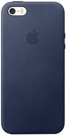Apple Leather Back Case For iPhone SE Blue