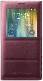 Samsung S View Book Flip Case For Samsung Galaxy Note 4 Dark Red